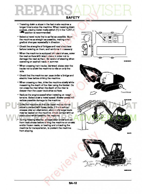 Hitachi ZX 60USB-3 & ZX 60USB-3F Hydraulic Excavator Workshop Manual PDF, Hitachi Manuals by www.repairsadviser.com