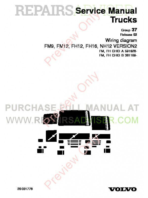 Volvo Trucks Fm7 16  Nh12 Wiring Diagram Service Manual