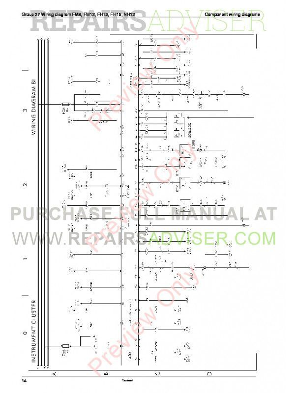 Diagram  Volvo Truck Wiring Diagram Fm9 Fm12 Fh12 Fm Manual