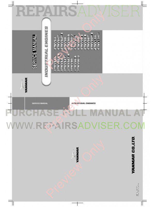 Yanmar Industrial Engines TNV Series John Deere Service Manual PDF