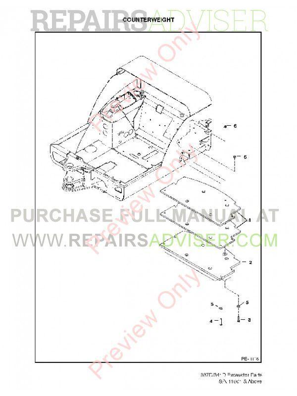 Bobcat 337, 341 D-Series Excavators Parts Manual PDF, Bobcat Manuals by www.repairsadviser.com