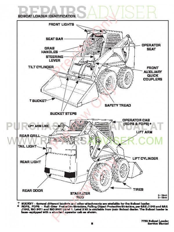 Bobcat loader Service manual