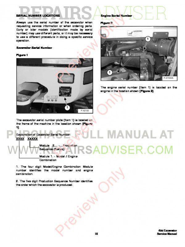 Bobcat 435 Compact Excavator Service Manual PDF, Bobcat Manuals by www.repairsadviser.com