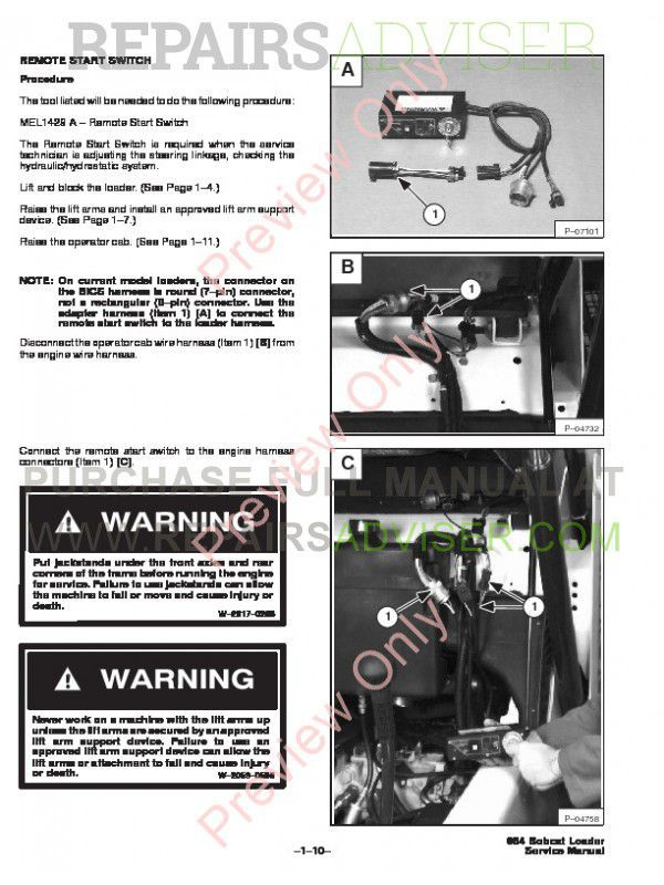bobcat 864, 864hf track loader service manual pdf download bobcat 864 schematic bobcat t300 schematic #11