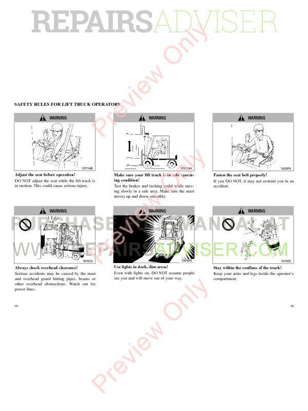 Caterpillar GP40K/KL GP45/50K DP40K/KL DP45/50K Lift Trucks Operation and Maintenance Manual PDF, Caterpillar Manuals by www.repairsadviser.com