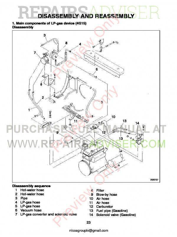 Caterpillar Engine 4G15, 4G63, 4G64, 6G72 Lift Trucks Service Manual PDF, Caterpillar Manuals by www.repairsadviser.com