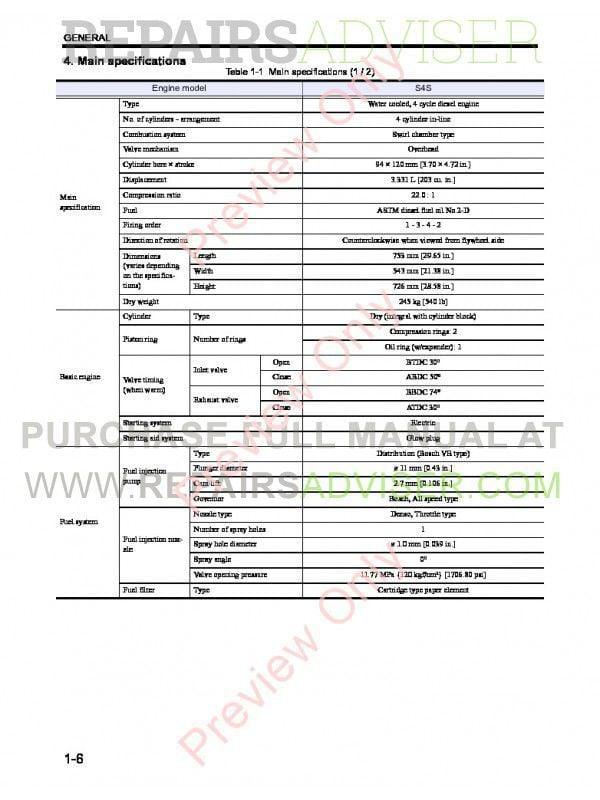 Caterpillar S4S Diesel Engine DP20N, DP25N, DP30N, DP35N Lift Trucks Service Manual PDF, Caterpillar Manuals by www.repairsadviser.com