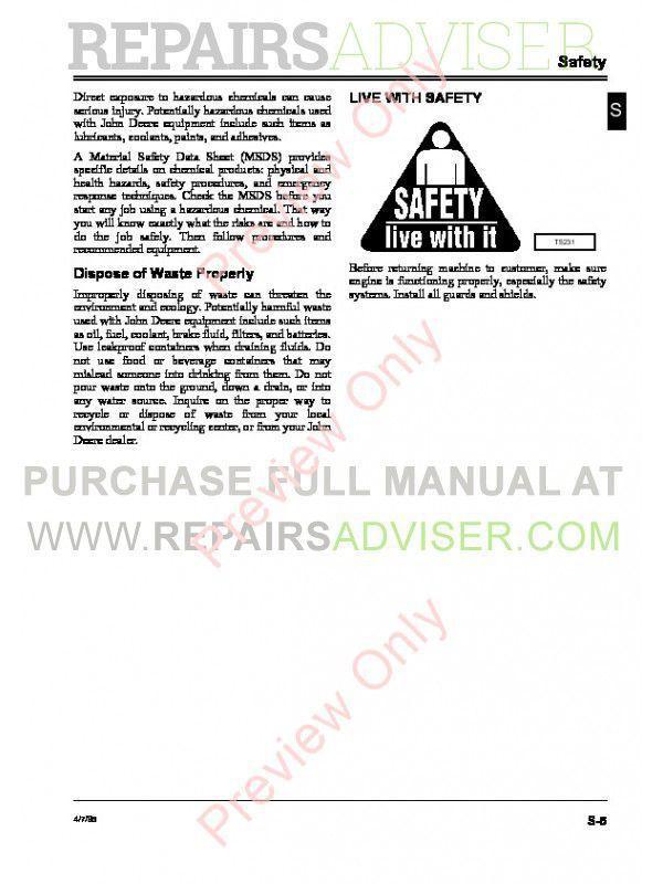 John Deere Series 220 Diesel Engines CTM3 Component Technical Manual PDF, John Deere Manuals by www.repairsadviser.com