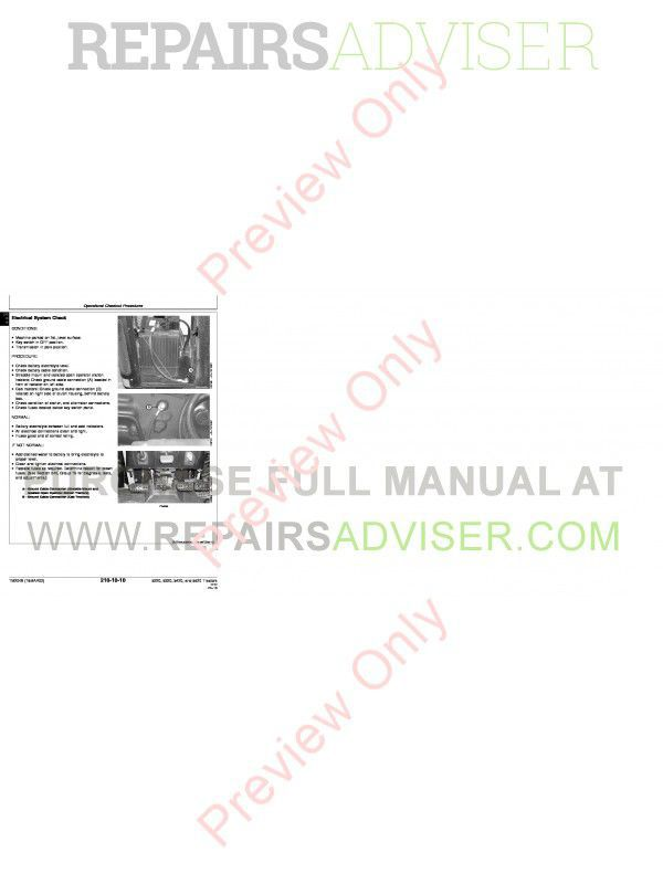 john john deere 5220 5320 5420 5520 tractors technical manual pdf on john  deere 5425 wiring diagram