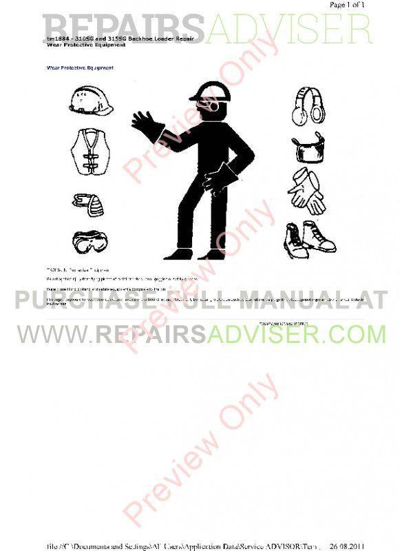 John Deere 310SG & 315SG Backhoe Loader Technical Manual TM