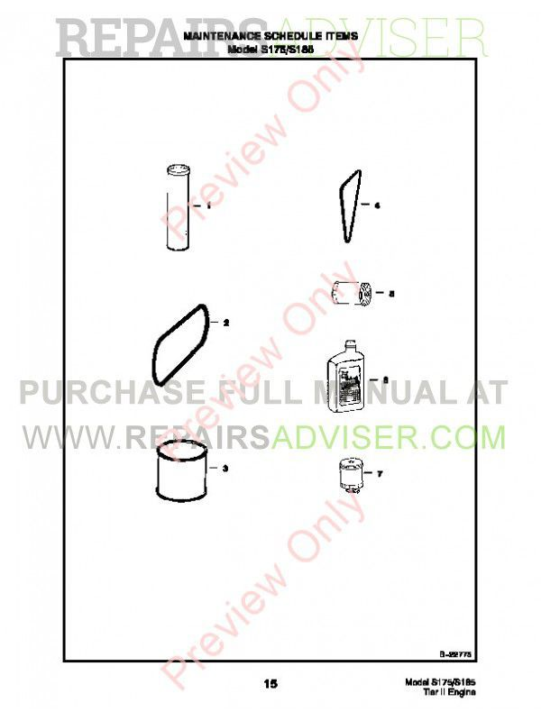 Bobcat S175, S185 Turbo Skid Steer Loader Parts Manual PDF, Bobcat Manuals by www.repairsadviser.com