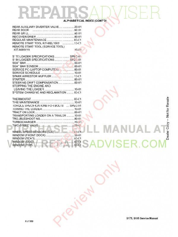 Download Bobcat S175 S185 Loader Service Manual PDF