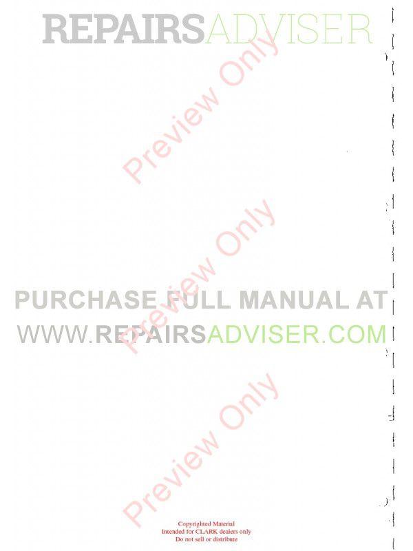 Clark CTM/CEM 10-20 with HPB1 - Control SM 5167 Training Manual PDF, Clark Manuals by www.repairsadviser.com