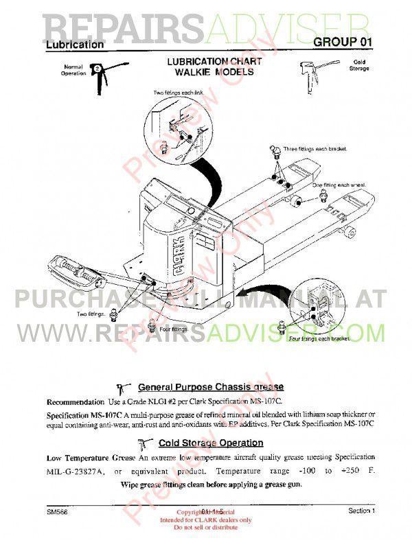 Clark PWD/HWD 25/30/36 Lift Trucks SM-568 Service Manual PDF, Clark Manuals by www.repairsadviser.com
