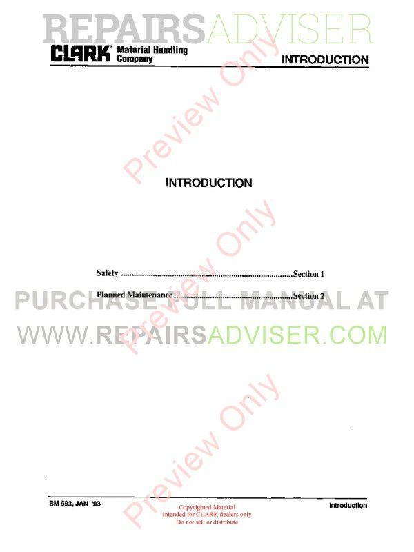 Clark GPX 35/40/50E Lift Trucks SM-606 Service Manual PDF, Clark Manuals by www.repairsadviser.com