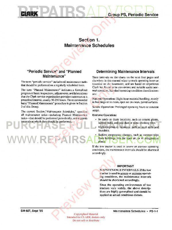 Clark GT30,50,60E Gasoline Tractor SM-607G Service Manual PDF, Clark Manuals by www.repairsadviser.com