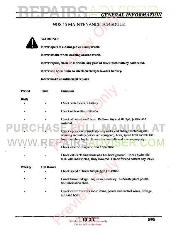 Clark NOS 15 Order Selector SM-613 Service Manual PDF, Clark Manuals by www.repairsadviser.com