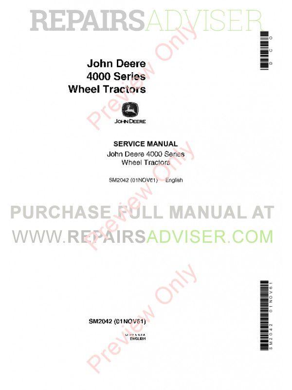 Deere Repair manual sm 2045