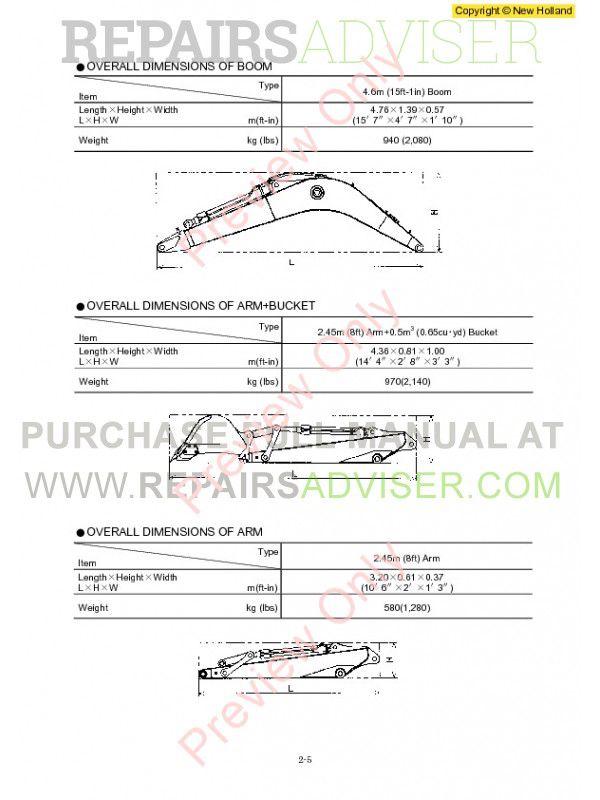 New Holland E115SR, E135SR Workshop Manual PDF, New Holland Manuals by www.repairsadviser.com