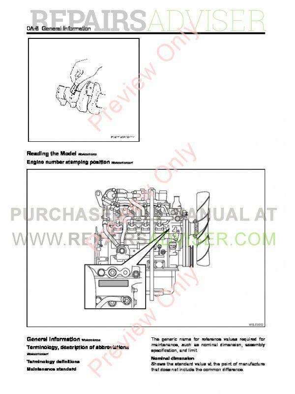 Isuzu Diesel Engine 4LE2 Service Manual PDF Download