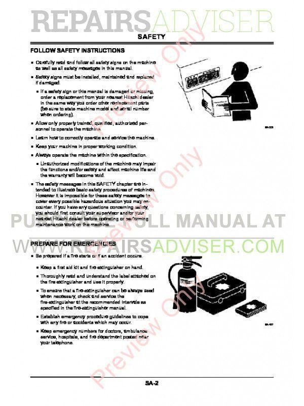 Hitachi Zaxis 27U-2 30U-2 35U-2 Excavator Technical Manual PDF, Hitachi Manuals by www.repairsadviser.com