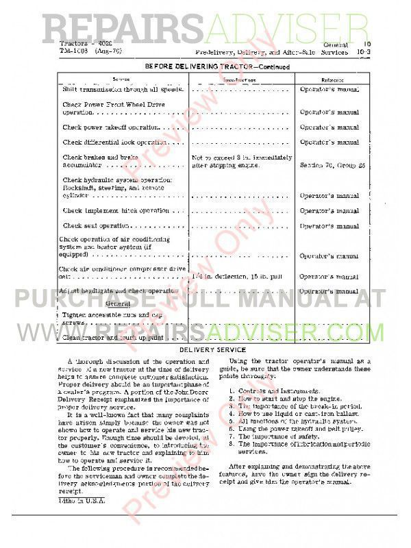 john deere 4000 4020 tractor technical manual tm 1006 pdf john deere 4000 4020 tractors technical manual tm1006 pdf manuals for heavy equipment by
