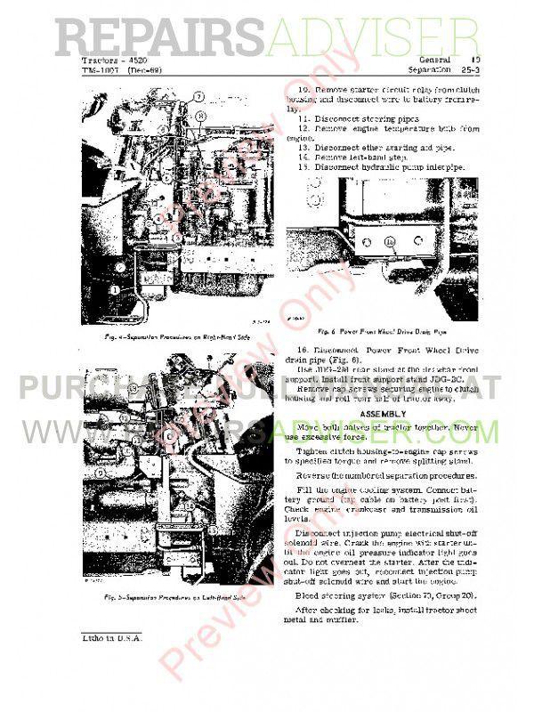 John Deere 4520 Tractors Technical Manual TM 1007 PDF Download