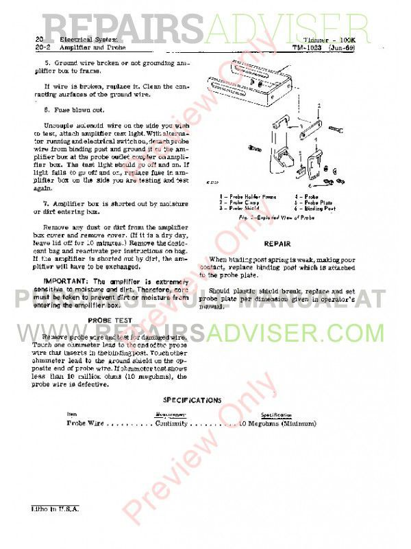John Deere 100K Synchronous Thinner Technical Manual TM-1023 PDF, John Deere Manuals by www.repairsadviser.com