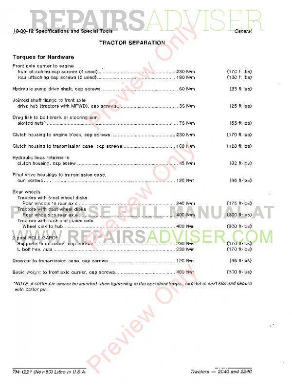 john deere 2040 2240 tractor technical manual tm 1221 john deere 2040 and 2240 tractor technical manual tm 1221 pdf