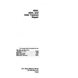 John Deere 4050 Amp 4250 Amp 4450 Tractors Technical Manual Tm