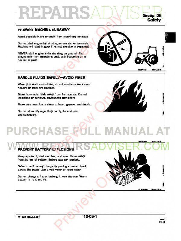 John Deere Tractors 4055 4255 4455 Repair TM-1458 PDF, John Deere Manuals by www.repairsadviser.com