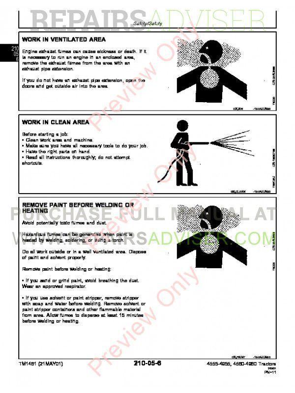 John Deere 4555, 4755, 4955 and 4560, 4760, 4960 Tractors Operation and Test Technical Manual TM-1461 PDF, John Deere Manuals by www.repairsadviser.com