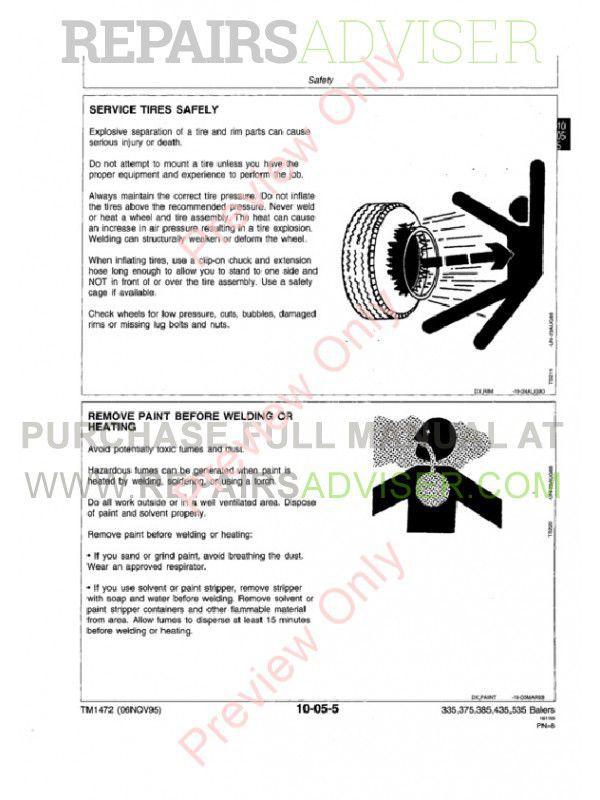 John Deere 335 375 385 435 535 Round Balers Technical Manual Tm1472. John Deere 335 375 385 435 535 Round Balers Technical Manual Tm1472 Pdf. John Deere. John Deere 335 Baler Parts Diagram At Scoala.co