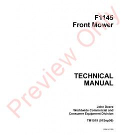john deere f912 f915 f935 front mowers technical manual tm. Black Bedroom Furniture Sets. Home Design Ideas