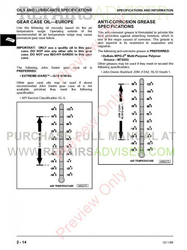 john deere f735 front mower techical manual tm 1597 pdf. Black Bedroom Furniture Sets. Home Design Ideas