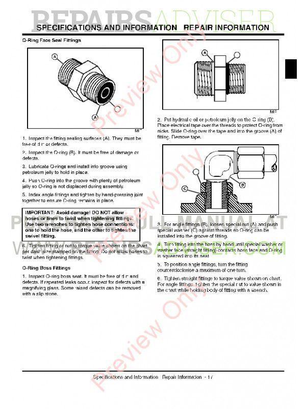 John Deere 2500, 2500A, 2500E Greens Mower Technical Manual PDF