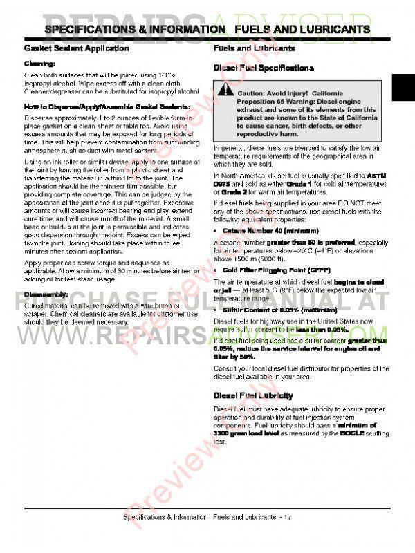 John Deere 2305 Compact Utility Tractor Technical Manual TM-2289 PDF, John Deere Manuals by www.repairsadviser.com