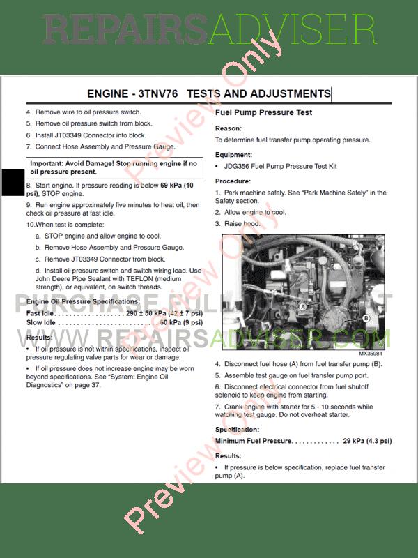 john deere 2305 compact utility tractor technical manual tm-2289 pdf, john  deere manuals