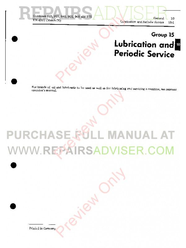 wiring diagram, john deere john deere combines 925 935 945 955 965 975  tm-4307 technical manual on john