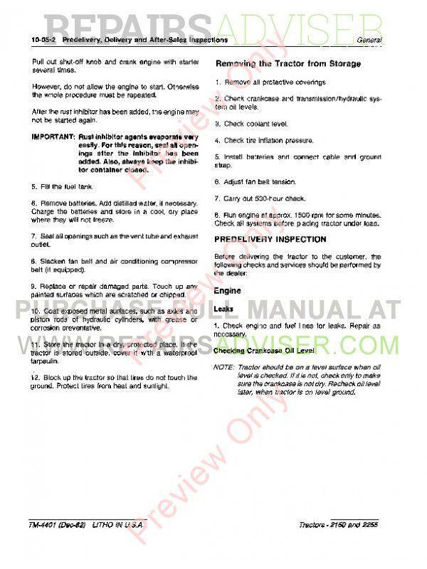 john deere 2150 service manual