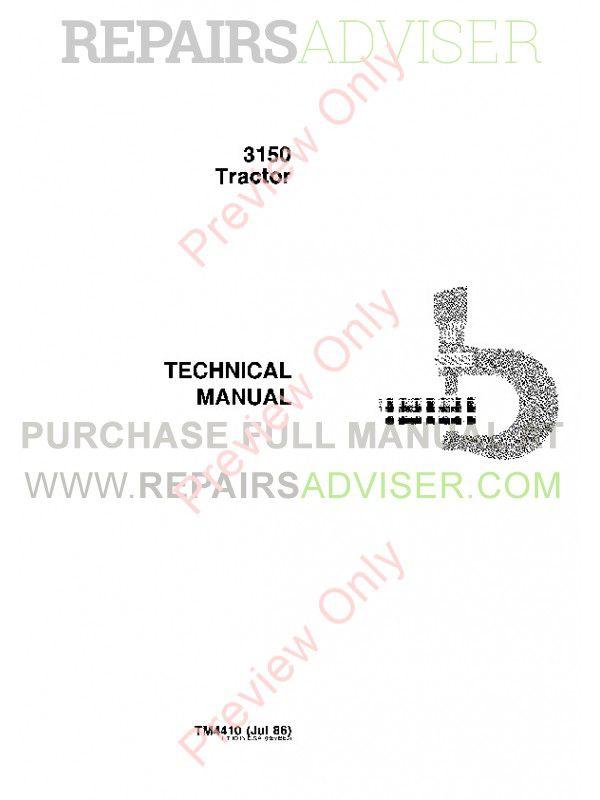 John Deere 4410 Repair manual