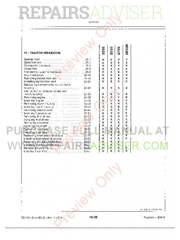 john deere 2355 2555 2755 2855n tractors tm 4434 pdf john deere 2355 2555 2755 2855n tractors tm4434 pdf manuals for heavy equipment by