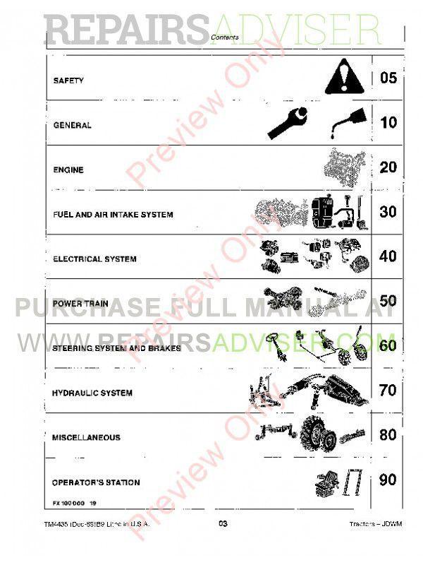 John Deere 2155 And 2355N Tractors Repair Technical Manual