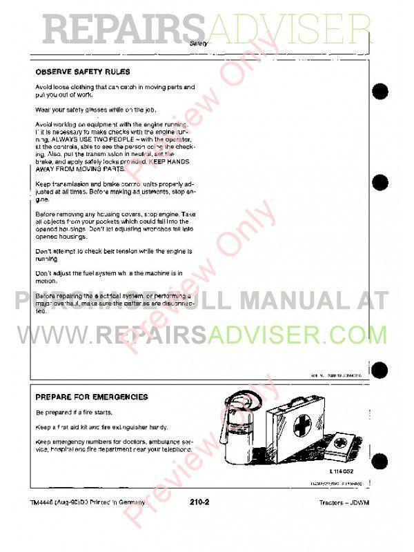 john deere technical manual pdf