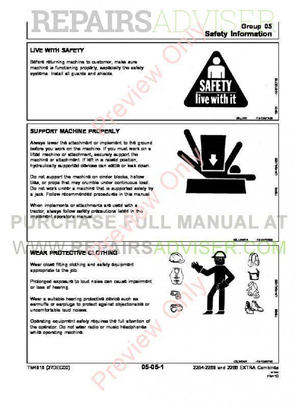 John Deere 2254 2256 2258 2264 2266 Combines TM-4544 & TM-4594 & TM-4616 PDF Manuals, John Deere Manuals by www.repairsadviser.com