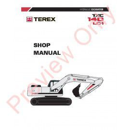 Terex TXC 140LC-1 Hydraulic Excavator Shop Manual PDF