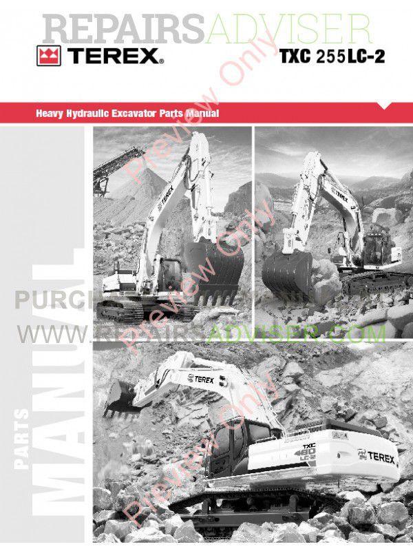 Terex TXC 255LC-1 Hydraulic Excavator Parts Manual PDF Download
