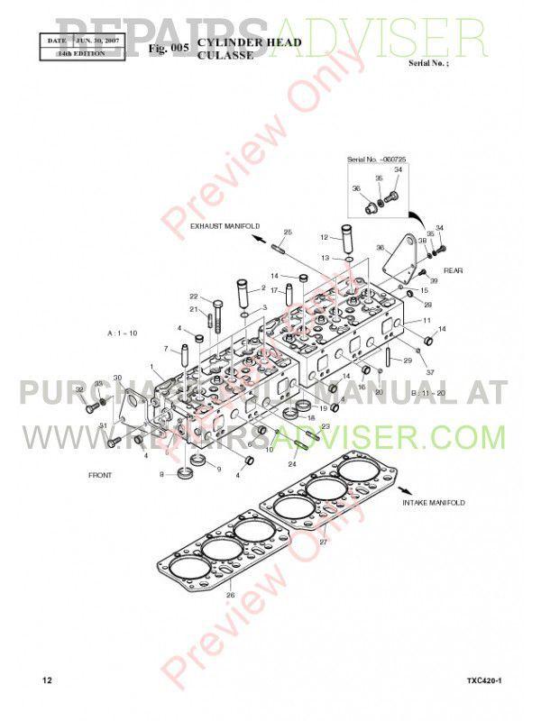 Terex TXC 420LC-1 Hydraulic Excavator Parts Manual PDF Download