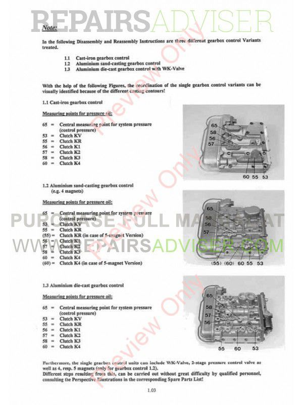 ZF WG   180      WG200 Power Transmission Workshop Manual PDF